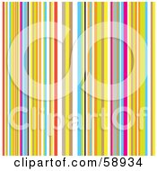 Royalty Free RF Clipart Illustration Of A Background Of Retro Colorful Stripes by michaeltravers