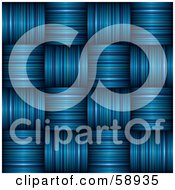 Royalty Free RF Clipart Illustration Of A Textured Weaved Blue Stripe Background