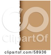 Royalty Free RF Clipart Illustration Of A Background Of Torn Paper Against Brown Version 3 by michaeltravers