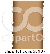 Royalty Free RF Clipart Illustration Of A Background Of Torn Paper Against Brown Version 2 by michaeltravers