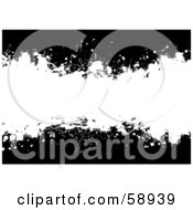 Royalty Free RF Clipart Illustration Of A Black And White Ink Splatter Background Version 1 by michaeltravers