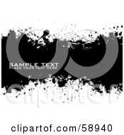 Royalty Free RF Clipart Illustration Of A Black And White Ink Splatter Background Version 2 by michaeltravers