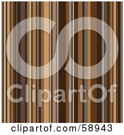 Royalty Free RF Clipart Illustration Of A Shiny Background Of Retro Brown Stripes by michaeltravers