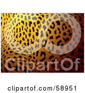 Royalty Free RF Clipart Illustration Of A Patterned Leopard Skin Print Background by michaeltravers
