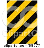 Royalty Free RF Clipart Illustration Of A Black And Yellow Warning Stripe Background Version 1