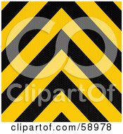 Royalty Free RF Clipart Illustration Of A Red And Yellow Warning Stripe Background by michaeltravers
