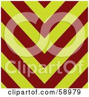 Royalty Free RF Clipart Illustration Of A Red And Yellow Ambulance Stripe Background