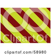 Royalty Free RF Clipart Illustration Of A Dot Textured Red And Yellow Warning Stripe Background by michaeltravers