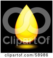 Royalty Free RF Clipart Illustration Of A Reflective Amber Droplet Version 1 by michaeltravers