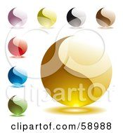 Digital Collage Of Colorful Yin Yang Like Website Buttons Version 2 by michaeltravers