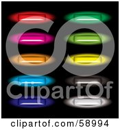 Digital Collage Of Long Colorful And Glowing Site Buttons by michaeltravers