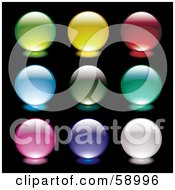 Digital Collage Of Glowing Orb Website Buttons Version 1 by michaeltravers
