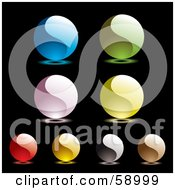 Digital Collage Of Colorful Yin Yang Like Website Buttons Version 1 by michaeltravers