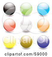 Digital Collage Of Rounded Colorful Orb Buttons Version 4 by michaeltravers