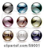 Digital Collage Of Rounded Colorful Orb Buttons Version 6 by michaeltravers