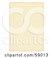 Royalty Free RF Clipart Illustration Of An Aged Ruled Sheet Of Binder Paper