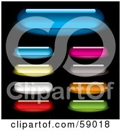 Digital Collage Of Colorful And Long Rounded Internet Buttons Version 2 by michaeltravers