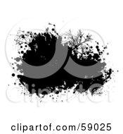 Royalty Free RF Clipart Illustration Of A Black Ink Splatter Background On White Version 1 by michaeltravers