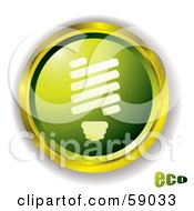 Green Eco Light Bulb Website Button by michaeltravers