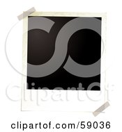 Royalty Free RF Clipart Illustration Of A Blank Polaroid Background Version 1 by michaeltravers