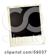 Royalty Free RF Clipart Illustration Of A Blank Polaroid Background Version 4 by michaeltravers