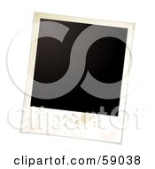 Royalty Free RF Clipart Illustration Of A Blank Polaroid Background Version 2 by michaeltravers