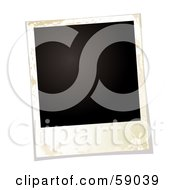 Royalty Free RF Clipart Illustration Of A Blank Polaroid Background Version 3 by michaeltravers