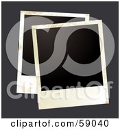 Royalty Free RF Clipart Illustration Of A Blank Polaroid Background Version 5 by michaeltravers