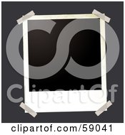 Royalty Free RF Clipart Illustration Of A Blank Polaroid Background Version 6