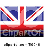 Royalty Free RF Clipart Illustration Of A Union Jack Flag Background With A Dark Bottom Edge