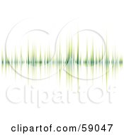 Royalty Free RF Clipart Illustration Of A Green Heart Beat Graph On White by michaeltravers