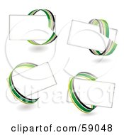 Royalty Free RF Clipart Illustration Of A Digital Collage Of Blank Text Boxes Circled With Green Yellow And Gray Ribbons by michaeltravers