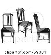 Digital Collage Of Black Chairs Version 2