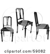 Digital Collage Of Black Chairs Version 4
