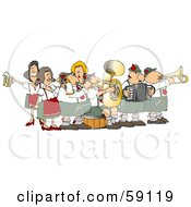 Festive Oktoberfest Band Playing Live Music