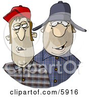 Royalty Free Clipart Illustration Of Southern Redneck Men by Dennis Cox