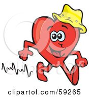 Red Heart Wearing A Hat And Walking