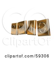 Royalty Free RF Clipart Illustration Of Golden 3d 2010 Numbers by MacX