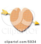 Gold Arrow Through Heart Clipart Picture