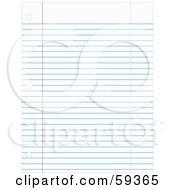 Flat Sheet Of Blue Ruled School Paper