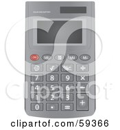 Gray Calculator With Small Buttons