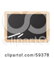 Royalty Free RF Clipart Illustration Of Two Pieces Of Chalk Resting On A Black Board