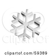 Royalty Free RF Clipart Illustration Of A 3d Silver Snowflake On White