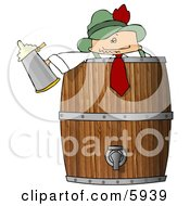German Man Celebrating Oktoberfest With Lots Of Beer Clipart Picture by djart