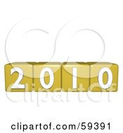 Royalty Free RF Clipart Illustration Of Yellow Number Blocks Displaying The Year 2010