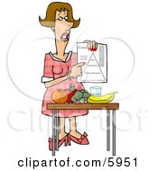 Female Dietitian Teaching The Public About Food And Nutrition Clipart Picture