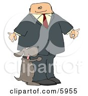 Bad Dog Humping A Businessmans Leg Clipart Picture