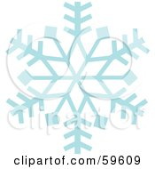 Royalty Free RF Clipart Illustration Of An Ice Blue Snowflake On White