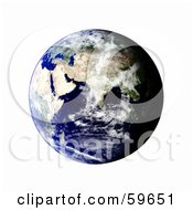 Royalty Free RF Clipart Illustration Of A World Globe Featuring The East Version 5