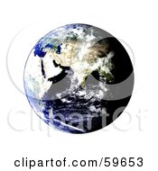 Royalty Free RF Clipart Illustration Of A World Globe Featuring The East Version 1